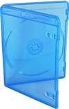 Amaray Blu-ray DVD case 11 mm for 1 disc, BLUE PP