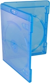 Amaray Blu-ray DVD case 11 mm for 2 discs, BLUE PP