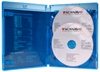 Scanavo Blu-ray DVD case 2/ONE Overlap 14 mm for 2 discs, BLUE PP