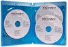 Scanavo Blu-ray DVD case 3/ONE Overlap 14 mm for 3 discs, BLUE PP