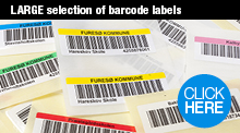 Large selection of barcode labels