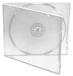 CD/DVD case for 1 disc, CLEAR PP