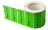 Label 49x24.5. Custom printed, GREEN - 1000 pcs.