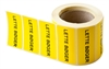 Label 49x24.5. Custom printed, YELLOW - 1000 pcs.