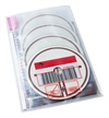 RFID DVD pouch for 1-4 discs. Pictogram, PP